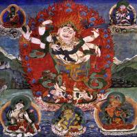 古代唐卡(1)老唐卡-佛画-佛教-神像图