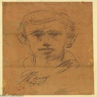 (20)素描欧美风格人物身像印刷电子文件图片