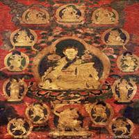 唐卡(21)教师喇嘛老唐卡-佛教-佛画-神像图片