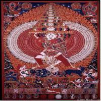 (14)古代唐卡佛教唐卡佛教神图片