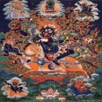 (2)古代唐卡佛教唐卡佛教神图片