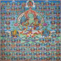 唐卡度母佛画佛教图片