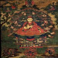 唐卡(22)教师喇嘛老唐卡-佛教-佛画-神像图片