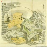 佛画-【版本1】十六罗汉佛教宗教佛像图片