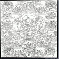 (11)唐卡線稿佛畫佛像佛教圖片