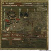 佛画十六罗汉像佛教宗教册页图片