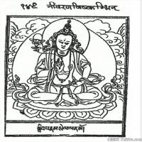 (16)唐卡線稿佛畫佛像佛教圖片