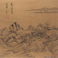 古画董其昌花鸟山水书法册页(美国藏)册页图片