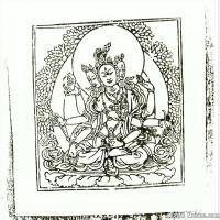 (14)唐卡線稿佛畫佛像佛教圖片