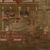 佛画-十六罗汉像着色绢本-平安时代-东京国立博物馆