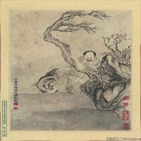 (1)佛画清石涛百页罗汉册页佛教宗教佛像图片
