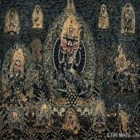 唐卡黑金-佛画佛教图片
