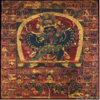 (6)古代唐卡佛教唐卡佛教神图片
