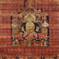 (30)古代唐卡佛教唐卡佛教神图片