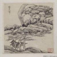 古畫董其昌山水冊北京故宮博物館