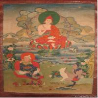 (1)唐卡八个大行家-每幅图三个-佛画佛教图片