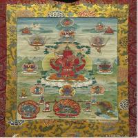(15)古代唐卡佛教唐卡佛教神图片