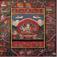 (13)古代唐卡佛教唐卡佛教神图片