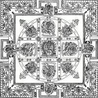(8)唐卡線稿佛畫佛像佛教圖片