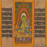佛画-古印度十八罗汉佛教宗教册页图片