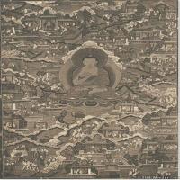 (4)唐卡释迦牟尼佛佛教佛画神像图