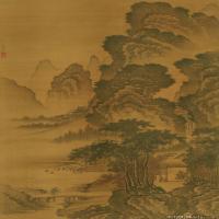明代畫家戴進山水繪畫作品