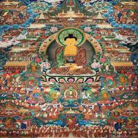 唐卡释迦牟尼佛画佛像佛教图片