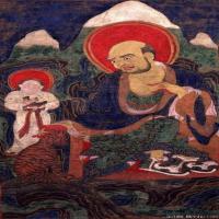 唐卡(3)罗汉佛教长老唐卡-佛教-佛画-神像图片