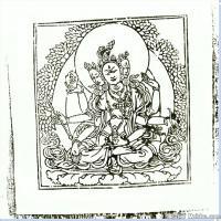 (15)唐卡線稿佛畫佛像佛教圖片