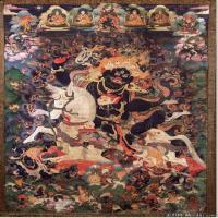(10)古代唐卡佛教唐卡佛教神图片