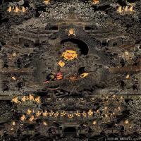 唐卡八马财神佛画佛像佛教图片