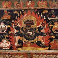 (1)佛像老唐卡-佛画-佛教-神像图片