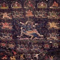 (18)古代唐卡佛教唐卡佛教神图片