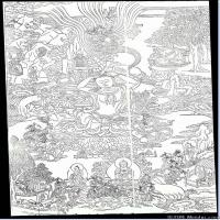 (3)唐卡線稿佛畫佛像佛教圖片