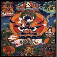 (7)佛像老唐卡-佛画-佛教-神像图片