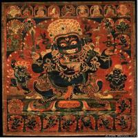 (3)古代唐卡佛教唐卡佛教神图片