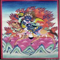 (4)古代唐卡佛教唐卡佛教神图片