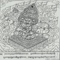 (10)唐卡線稿佛畫佛像佛教圖片