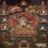 (26)古代唐卡佛教唐卡佛教神图片