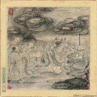 (2)佛画清石涛百页罗汉册页佛教宗教佛像图片