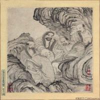 (4)佛画清石涛百页罗汉册页佛教宗教佛像图片