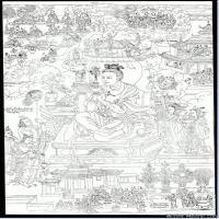 (12)唐卡線稿佛畫佛像佛教圖片