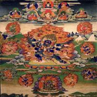 (23)古代唐卡佛教唐卡佛教神图片