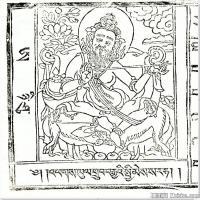 (9)唐卡線稿佛畫佛像佛教圖片
