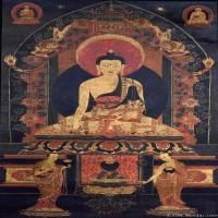 (10)唐卡释迦牟尼佛佛教佛画神像图