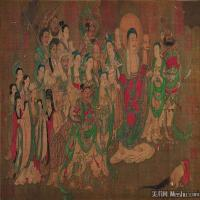 佛画燃灯佛授记释迦文图卷佛教宗教佛像图片