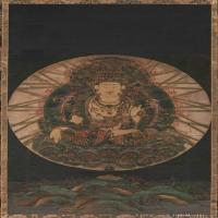 佛畫虛空藏菩薩像圖片