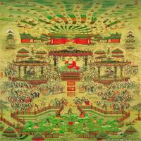 佛畫西方極樂世界圖片