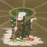 佛画地蔵菩萨像图片