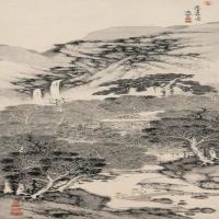 明代畫家劉原起古畫繪畫作品